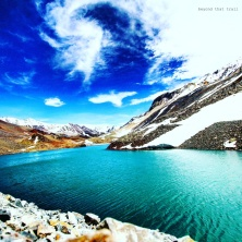 Vishal Tal. fed by snow on the Baralacha la pass, the lake is named after an IAF pilot who lost his life here while trying to land a chopper. on the brighter side, it's at high altitude, and with no eateries or habitation around, no tourist stops here